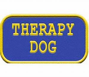 Therapy Dog Identification Hanging Patch Tag | Clips to ...