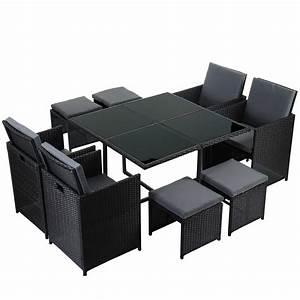 Rattan Sitzgruppe Garten : poly rattan garten garnitur kreta lounge set sitzgruppe schwarz braun ebay ~ Markanthonyermac.com Haus und Dekorationen