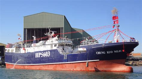 Longline Fishing Boat Design by The Gilontas Ocean Co Ltd Belongs Chung Kuo No 81 Tuna