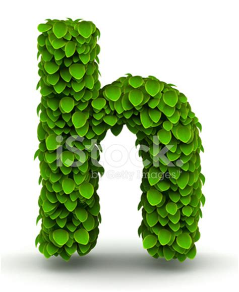 Leaves Font Letter H Lowercase stock photos - FreeImages.com