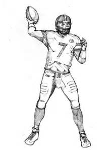 Steelers Football Player Coloring Page