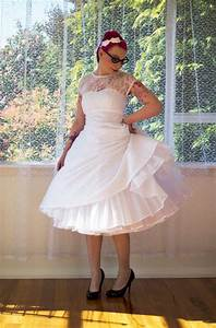 1950s rockabilly wedding dress 39lacey39 with lace overlay for 1950s tea length wedding dress