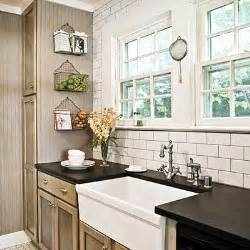 4x12 Subway Tile Daltile by Taupe Kitchen Cabinets Cottage Kitchen