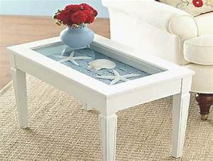 Beach themed coffee table decor roy home design for Beach inspired coffee table