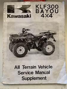 Genuine Kawasaki Service Workshop Manual Supplement 1989  Bayou 4x4