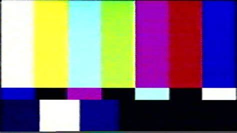 Vhs Tape Color Bars Off-air. Color Bars Test Broadcast