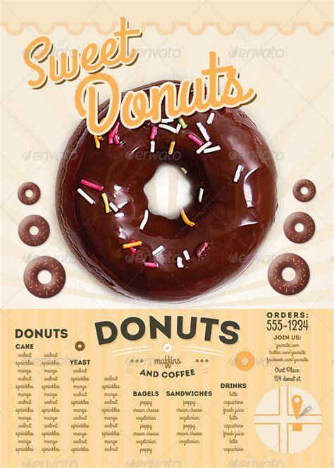 sweet donuts flyer  menu template  thefaint