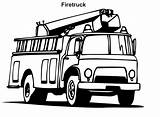 Coloring Fire Truck Pages Printable sketch template