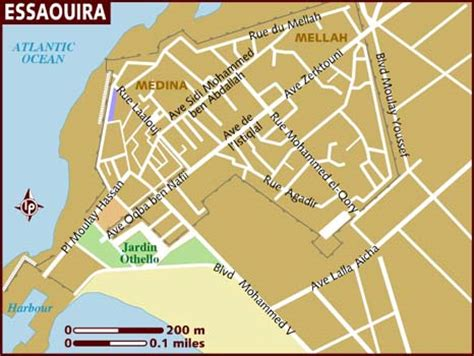 Map of Essaouira