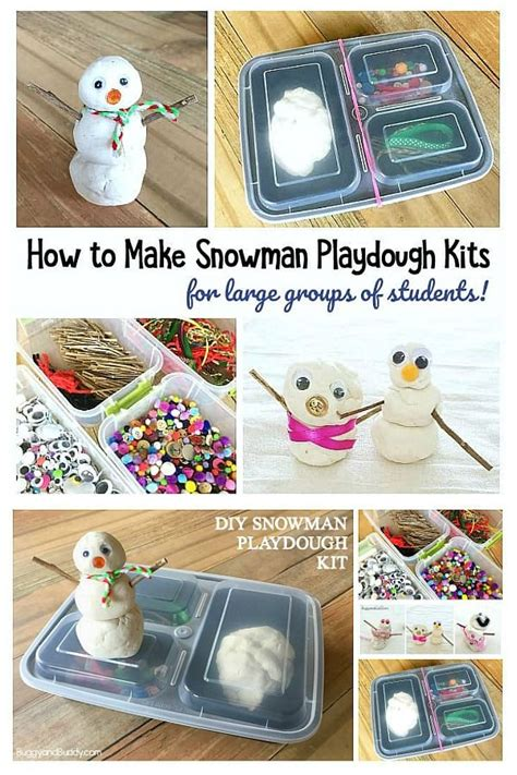 large group preschool christmas activities make your own snowman playdough kit with your class or small of because i work
