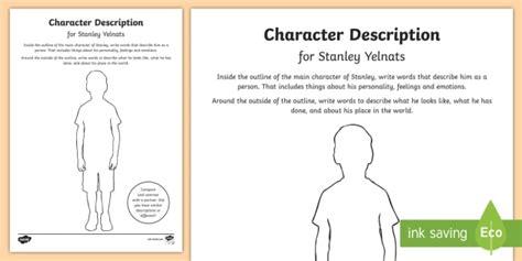 character description for stanley worksheet activity sheet