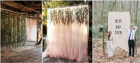 unique  breathtaking wedding backdrop ideas