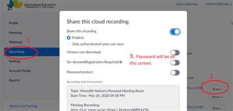 passwords recordings setting password settings