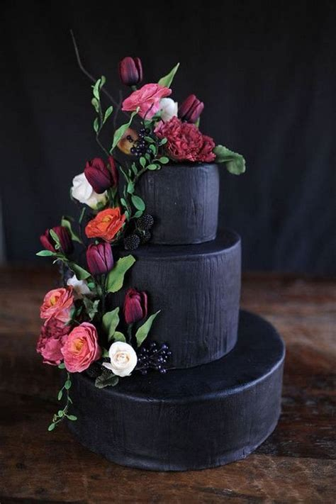 brilliant matter black wedding cake ideas   trends emmalovesweddings