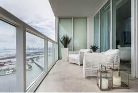 Modern Large Balconies Modern Balconies Interior Design Ideas White Finished Loggia With The