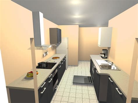 cuisine en longueur ouverte comment amenager une cuisine en longueur maison design