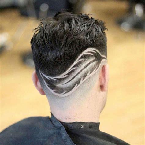 nacken mann mann haar feder muster nacken rasiert hairstyles tribal haare m 228 nner
