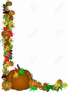 Pumpkin Vine Border Clipart - ClipartXtras