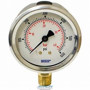 Wika Model 212 53 Bourdon Tube Dry Case Pressure Gauge