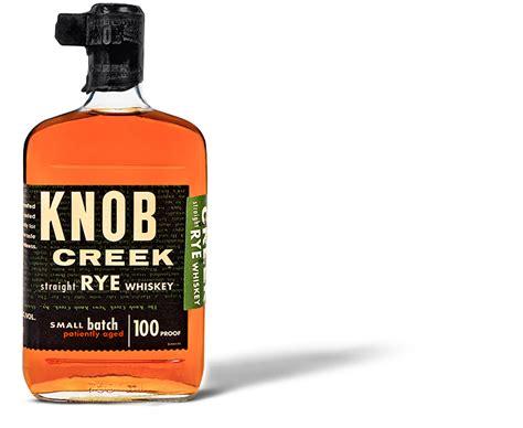 knob creek rye kentucky bourbon whiskey blended with