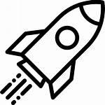 Rocket Ship Space Launch Transportation Icon Transport