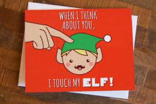 merry christmas rude cards christmas card quot touch my elf quot cheeky card rude card merry christmas card