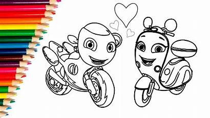 Ricky Zoom Draw Coloring Pages Stickers Clipart
