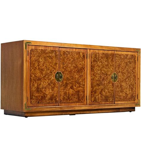 asian credenza asian inspired burled wood credenza by thomasville at 1stdibs