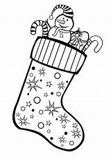 Coloring Stocking Gifts Christmas Pages Stockings Years sketch template