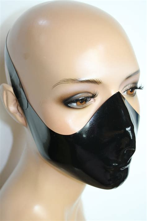 cl design latex medical mask ergonomically shaped roleplay