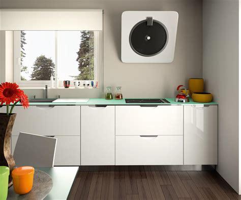 cuisine vert d eau cuisine équipée moderne blanc brillant