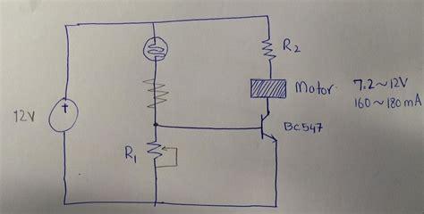 Designing Light Dark Sensor For Motors Using Transistor