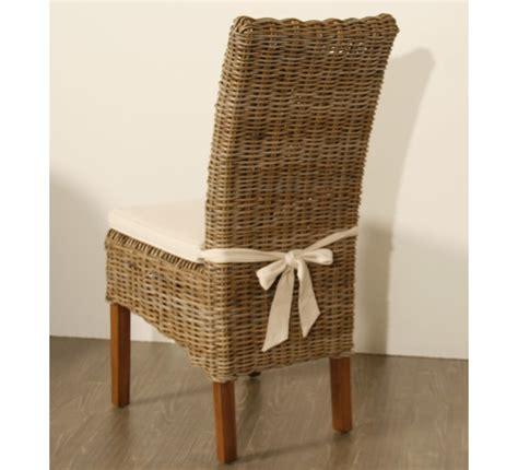 coussin d assise canapé lot de 2 chaises en kubu tressé 5936