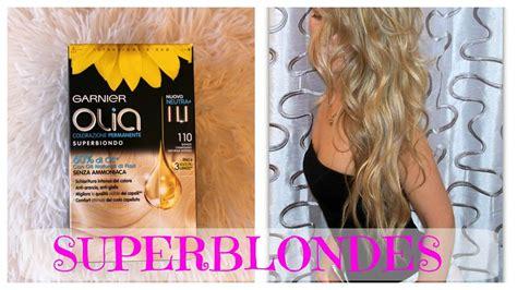 Blonde From A Box Hair Dye? Garnier Olia 110 Super Blondes