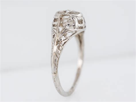 gold deco engagement rings deco engagement ring 01 antique in 18k gold