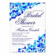 teal bridal showers on pinterest With royal blue wedding invitations canada