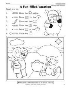 Preschool Following Directions Worksheet Results For Following Directions Worksheet Guest The Mailbox