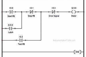 Plc Motor Logic With Start  Stop  Test Push Buttons