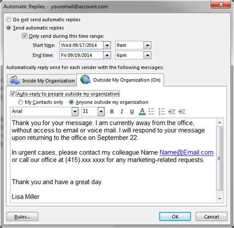 outlook message absence bureau strategies for effective e mail management part 3 inloox