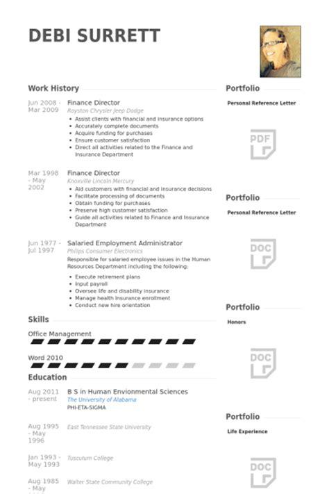 Finance Curriculum Vitae Exles by Finance Director Resume Sles Visualcv Resume Sles