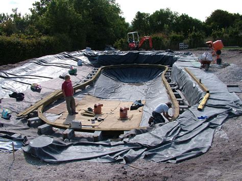 Natural Pool Liners  Pool Surround Was Capped With Oak