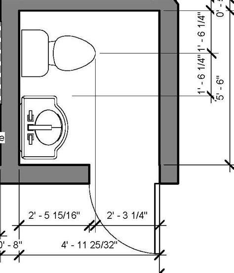 Modern Bathroom Floor Plans by Powder Room Floor Plan 5 X5 6 Quot Inspire Bathroom