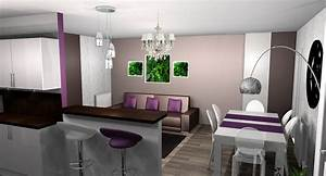 best salle a manger gris et prune images amazing house With salle a manger design