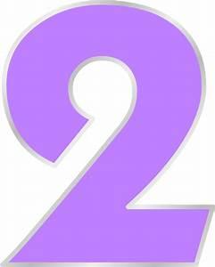 Purple Number 2 Clip Art at Clker.com