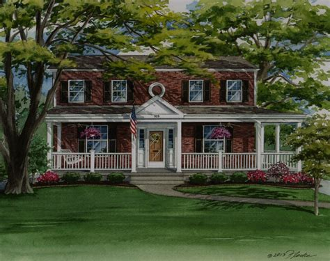 brick colonial house plans brick two house with front porch build