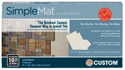 simplemat tile setting mat tile setting materials custom building products