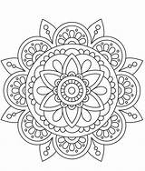Therapy Mandalas Drawing Coloring Pages Mandala Kaynak Sement Adult sketch template