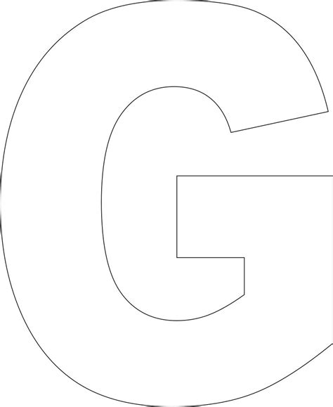 letter g template free printable alphabet template
