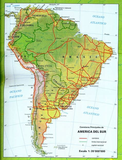 Mapa de América del Sur (map of South America) Flickr