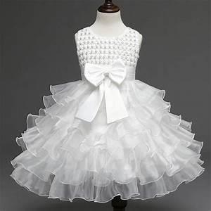 robe ceremonie bapteme bebe fille robe d39enfan blanc With robe pour bapteme fille